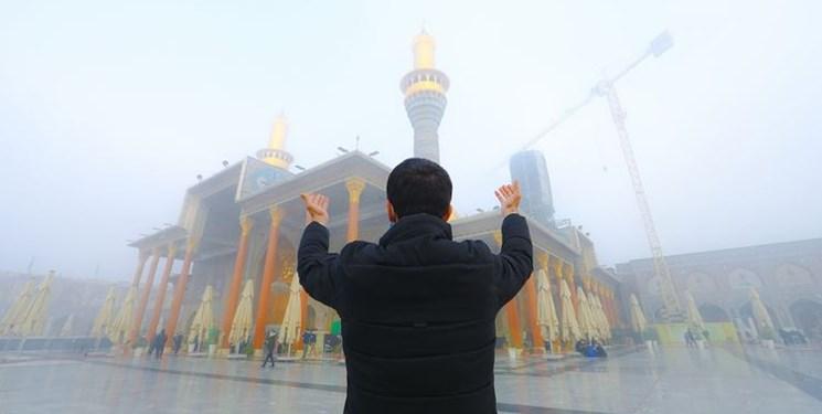 حرم ۲ امام در مه+عکس