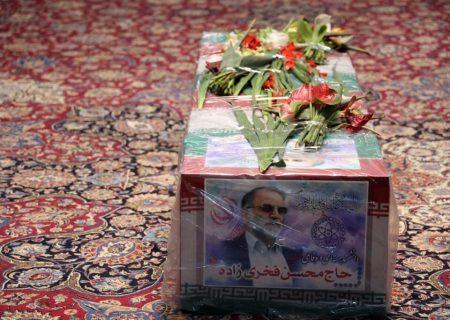پیکر شهید فخریزاده به خاک سپرده شد+عکس