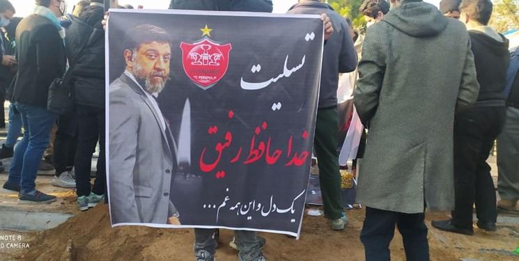 پیکر علی انصاریان در بهشت زهرا تشییع و به خاک سپرده شد+عکس